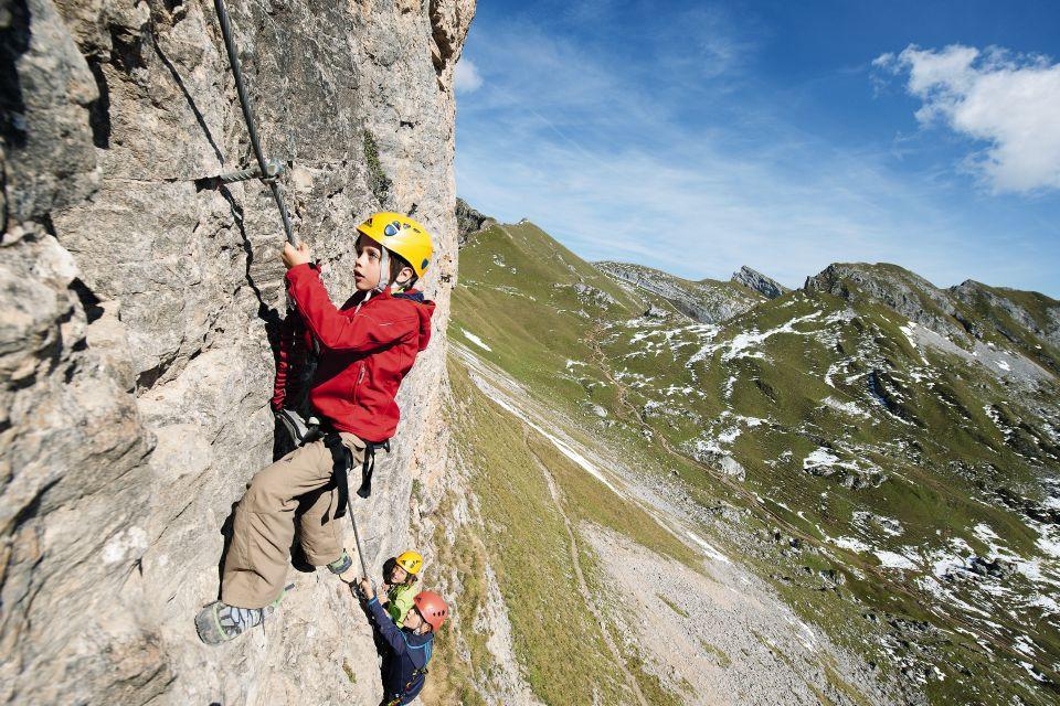 Klettersteig Tegernsee : Klettersteig schnuppertag im rofan am achensee dav summit club