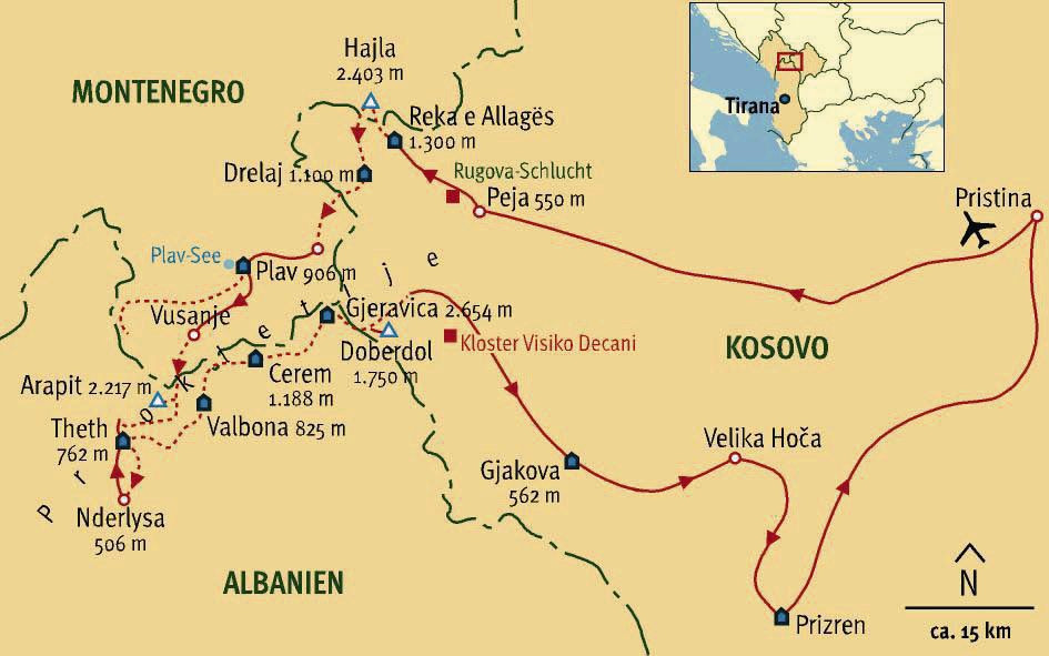 Kosovo Karte 2019.Peaks Of The Balkans Trail Trekking Im Dreiländereck Albanien