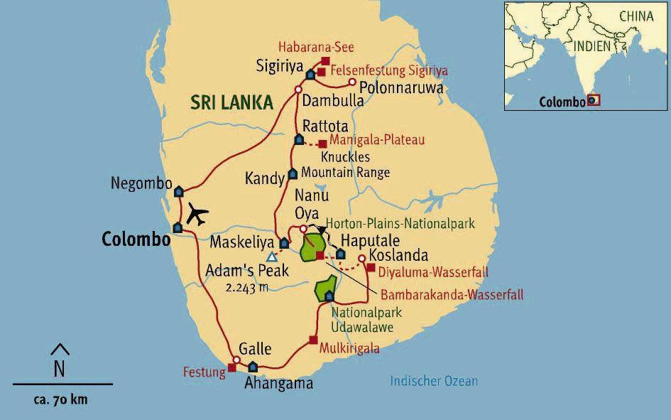 Sri Lanka Karte Zum Drucken.Buddha Tee Und Dschungelberge Kulturwanderungen Im